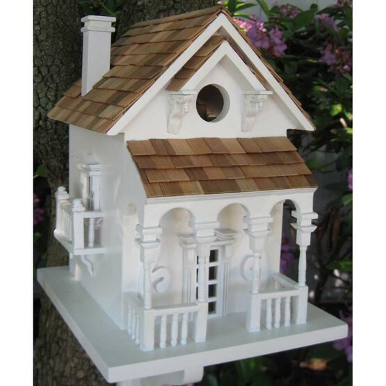 Decorative Honeymoon Cottage Bird House with Bracket