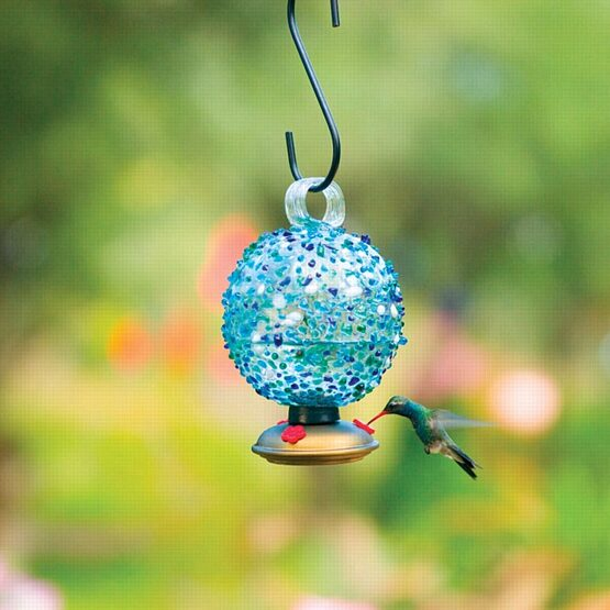 Dew Drop Glass Hummingbird Feeder
