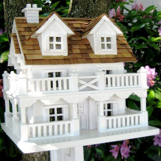 Decorative Cape Cod Bird House with Bracket