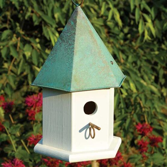 Copper Songbird Hanging Bird House