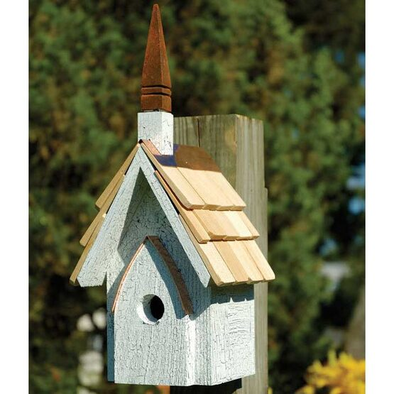 classic chapel bird house yard envy