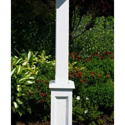 Hammersley Vinyl White Bird House Post