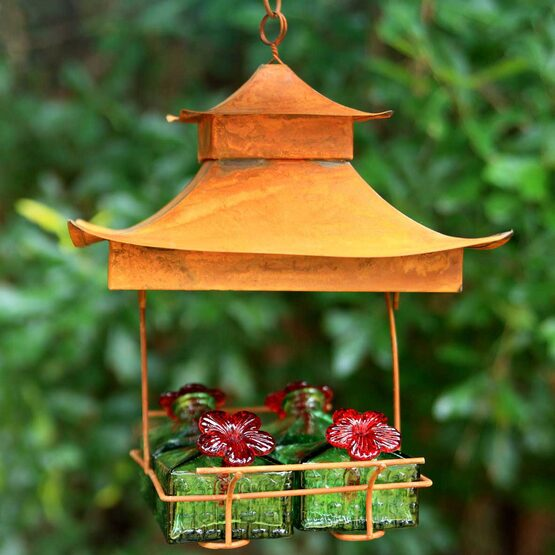 Pagoda Hummingbird Feeder