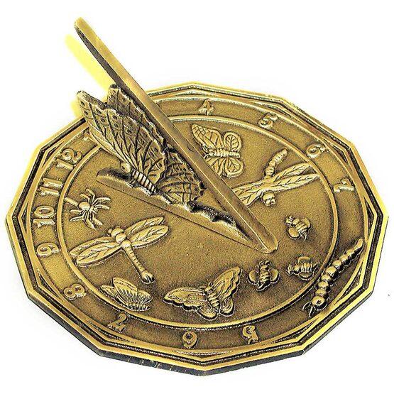 Brass Butterfly Sundial