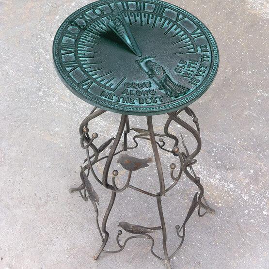 """French Bird Wrought Iron 29"""" Pedestal"""