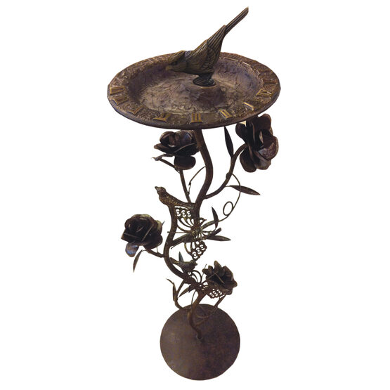 "Wrought Iron Rose 28"" Pedestal"