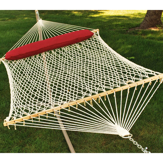 2 Point 13' 2 Person Rope Hammock with Pillow