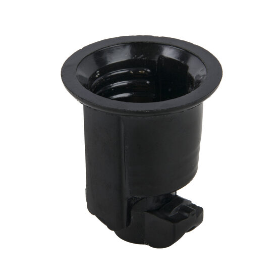 Medium Base Phenolic Socket, Black