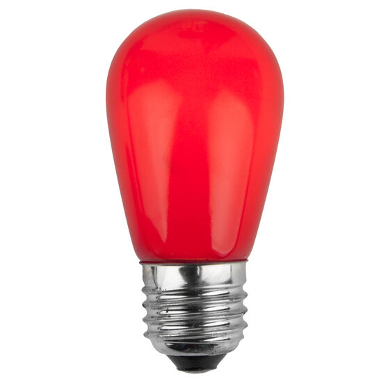 S14 Colored Party Bulbs, Red Opaque