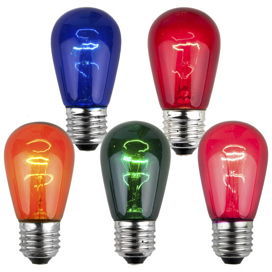 S14 Colored Party Bulbs, Multicolor