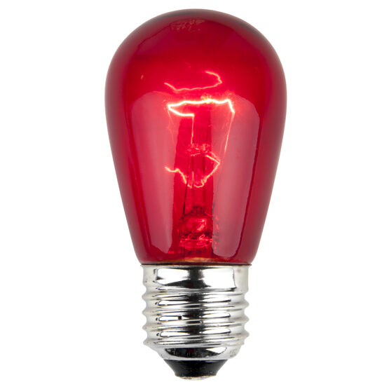 S14 Colored Party Bulbs, Red