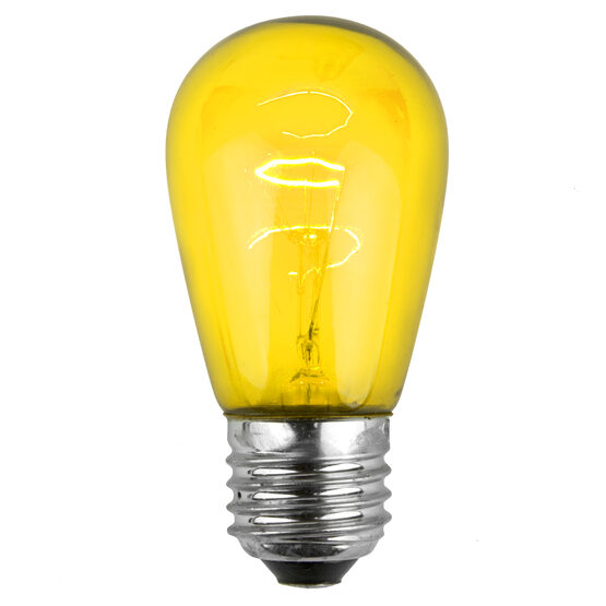 S14 Colored Party Bulbs, Yellow