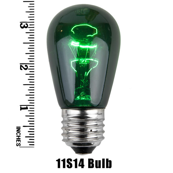 S14 Colored Party Bulbs, Green