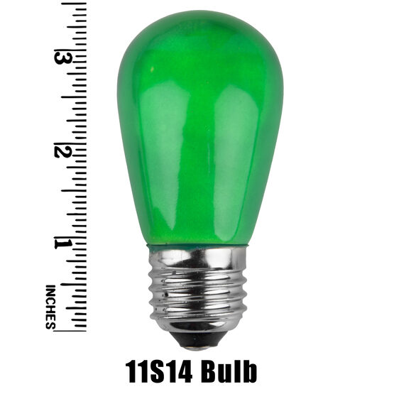 S14 Colored Party Bulbs, Green Opaque