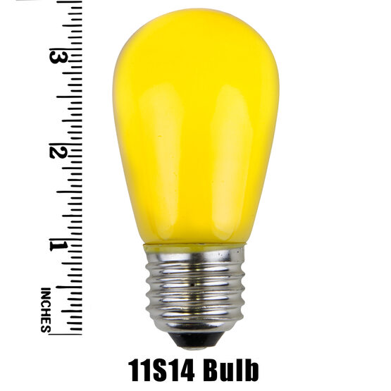 S14 Colored Party Bulbs, Yellow Opaque