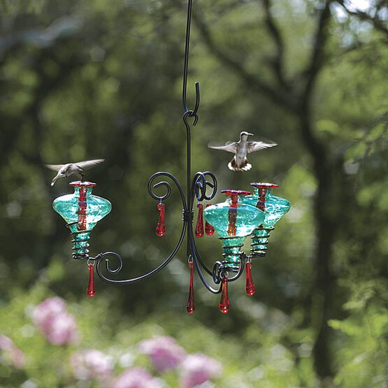 Chandelier Glass Hummingbird Feeder