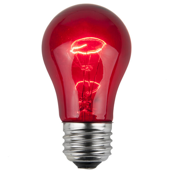 A15 Colored Party Bulbs, Red