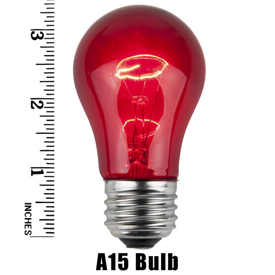 A15 Colored Party Bulbs, Multicolor