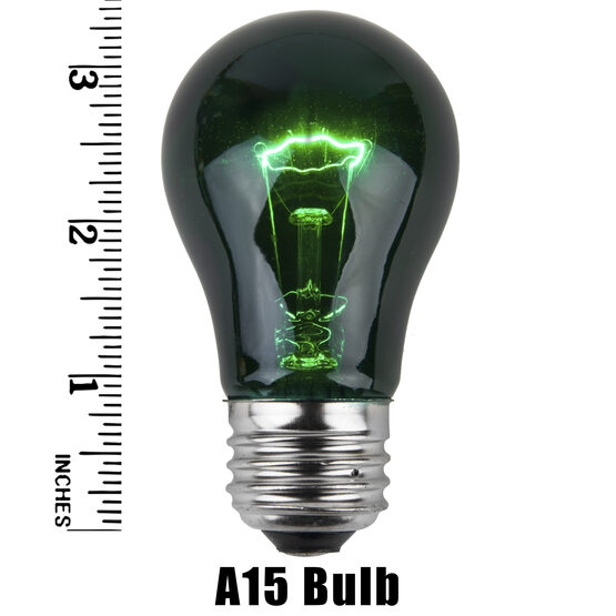 A15 Colored Party Bulbs, Green