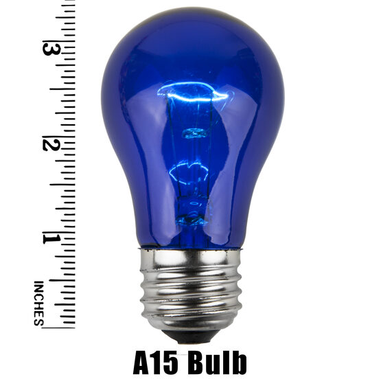 A15 Colored Party Bulbs, Blue