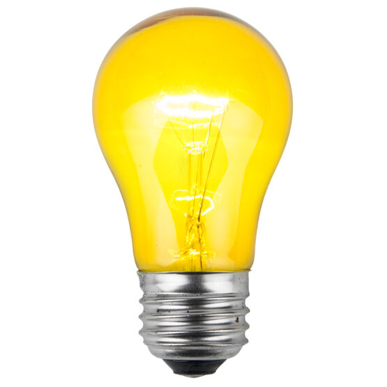 A15 Colored Party Bulbs, Yellow