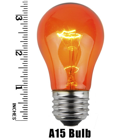 A15 Colored Party Bulbs, Amber