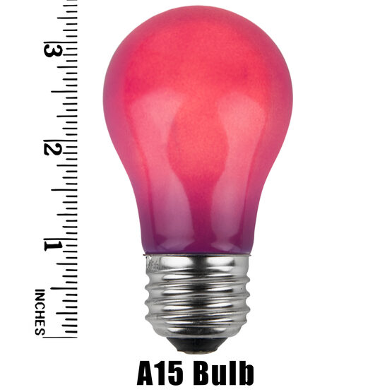 A15 Colored Party Bulbs, Purple Opaque