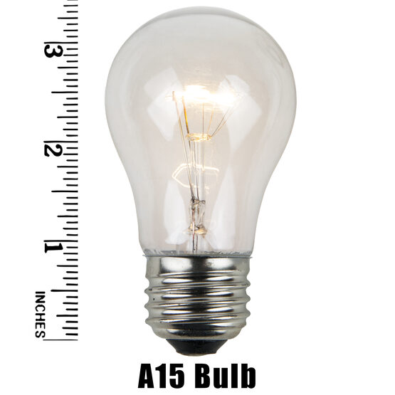 A15 Patio Light Bulbs, Clear