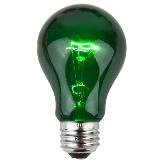 A19 Colored Party Bulbs, Green