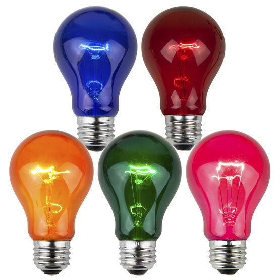 A19 Colored Party Bulbs, Multicolor