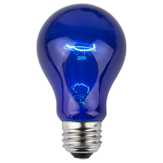 A19 Colored Party Bulbs, Blue