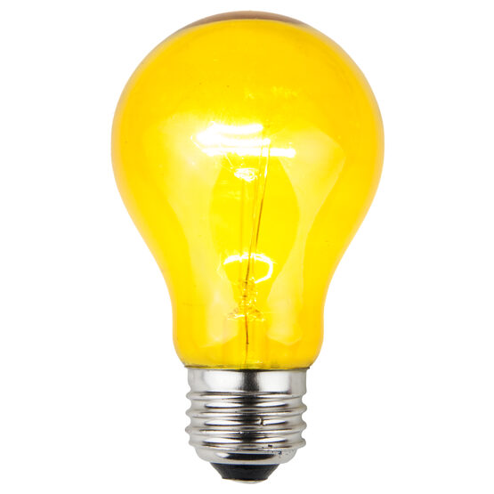 A19 Colored Party Bulbs, Yellow