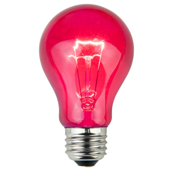 A19 Colored Party Bulbs, Pink