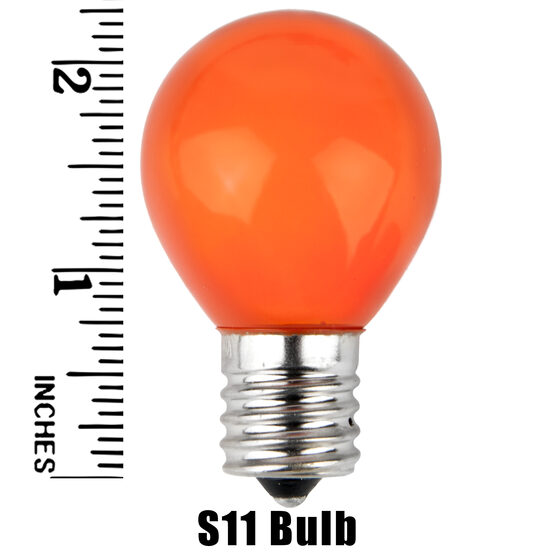 S11 Colored Party Bulbs, Orange Opaque