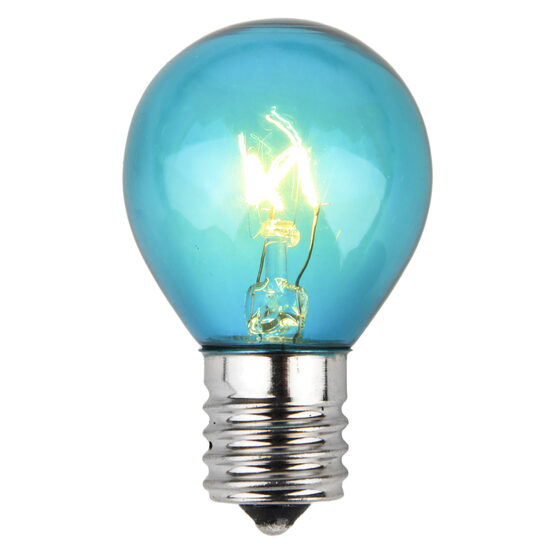 S11 Colored Party Bulbs, Teal