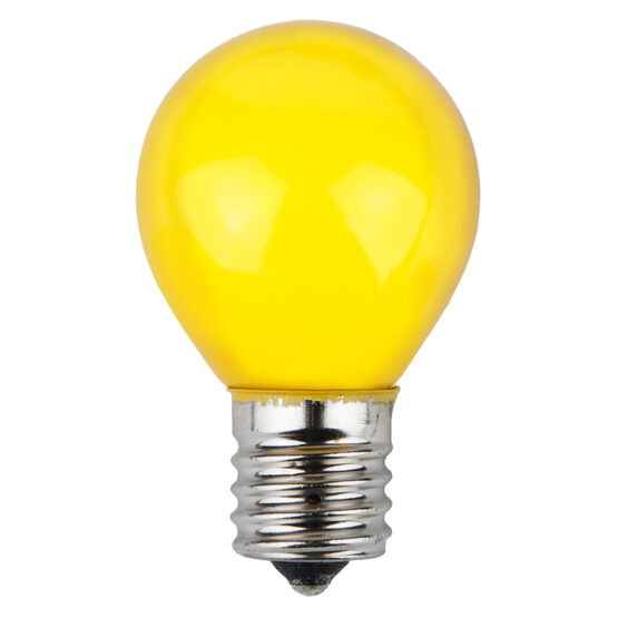 S11 Colored Party Bulbs, Yellow Opaque