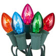 C7 Commercial String Lights, Multicolor Bulbs