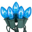 C7 Commercial String Lights, Blue Bulbs