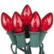 C7 Commercial String Lights, Red Bulbs