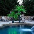 Realistic Commercial LED Lighted Palm Tree with Green Canopy