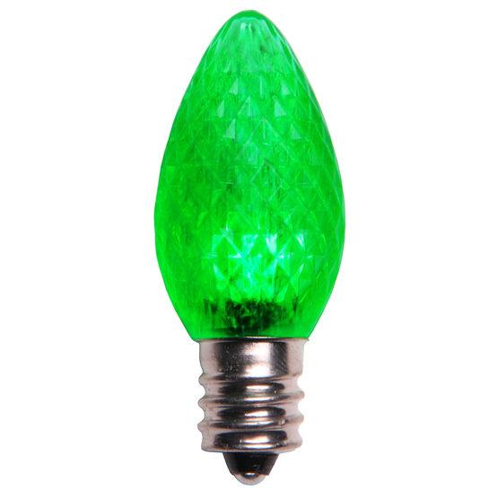 C7 LED Light Bulb, Green