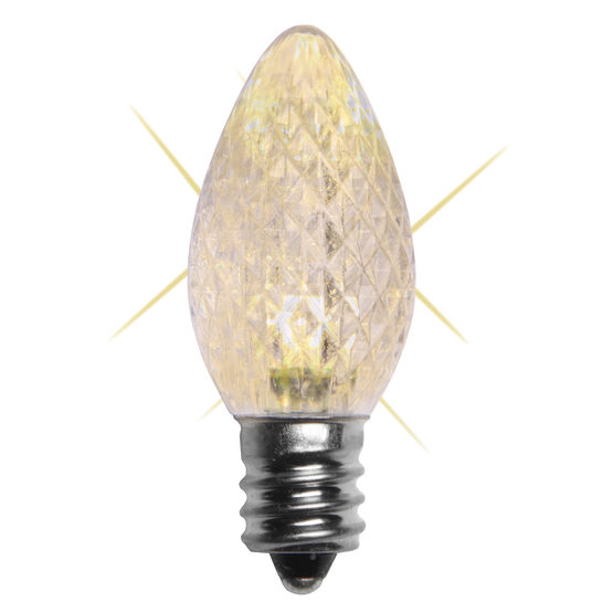 C7 LED Light Bulb, Warm White Twinkle
