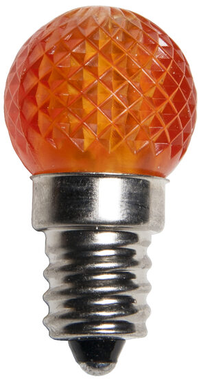 Mini G20 Globe LED Patio Light Bulb, Amber / Orange