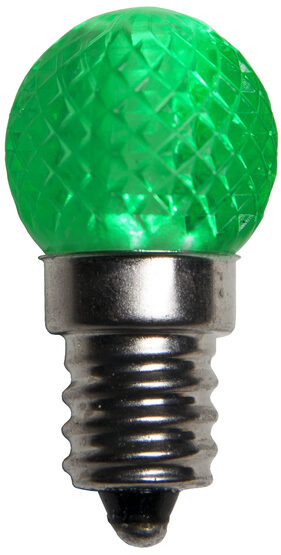 Mini G20 Globe LED Patio Light Bulb, Green