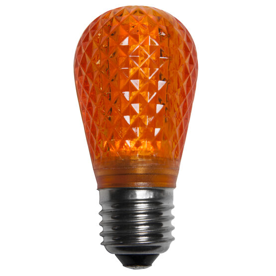 S14 T50 LED Patio Light Bulb, Amber / Orange