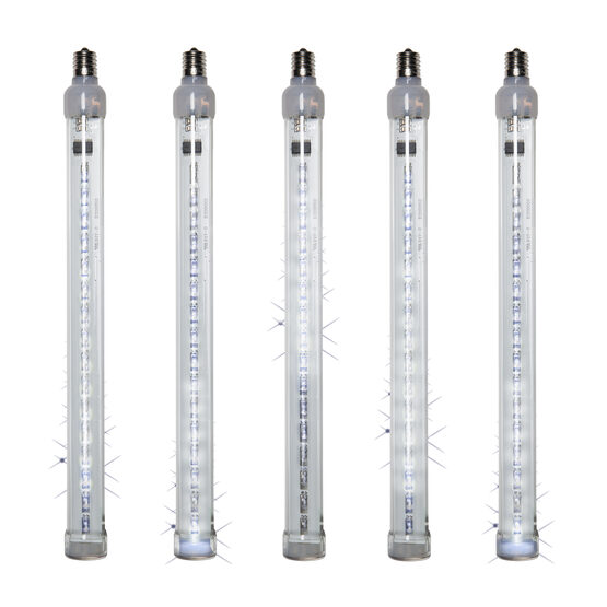T8 Grand Cascade LED Light Tubes, Cool White, E17 Base