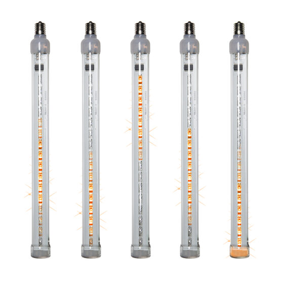 T8 Grand Cascade LED Light Tubes, Amber , E17 Base