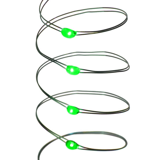 7' LED Fairy Lights, Green, Green Wire