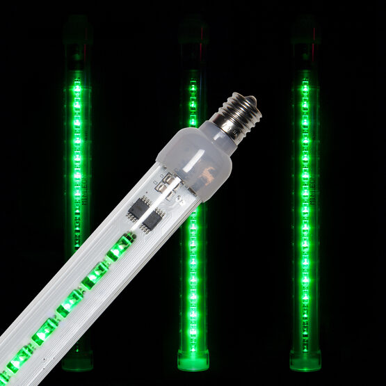 T8 Grand Cascade LED Light Tubes, Green , E17 Base