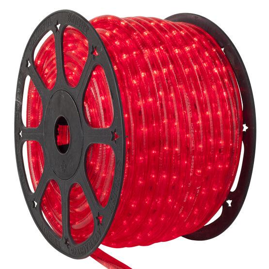 "153' Red LED Rope Light, 120 Volt, 1/2"""